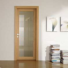 Puertas de madera y vidrio Glass Bathroom Door, Glass Door, Interior Door Styles, Big Doors, Walk In Closet Design, Wooden Swings, Modern Door, Home Decor Furniture, Wooden Doors