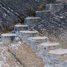 Steps to the Minack Theatre Porthcurno Bay Cornwall. #ukcoastwalk Photo: Quintin Lake www.theperimeter.uk