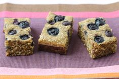Blueberry Date Snack Cake with Oats | Healthy Ideas for Kids