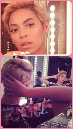 NOT NATURAL HAIR, BUT BEY IS ROCKING SHORT HAIR! NICE!