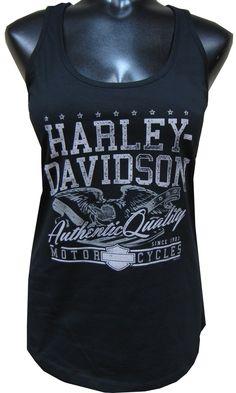 Harley-Davidson® Women's Tank Top, Eagle, Black
