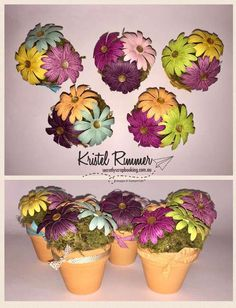 Daisy Flower Pots (Stampin' Up!) - Secretly Scrapbooking (Bunbury, WA)