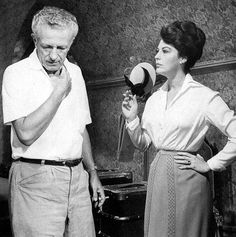 AVA GARDNER with director Nicholas Ray, direct of 55 Days at Peking