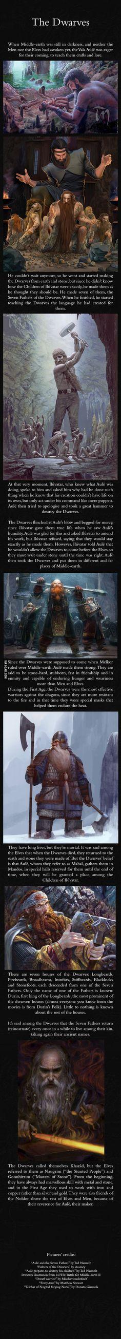 Dwarves - J.R.R. Tolkien's Mythology. So much info in such little space!