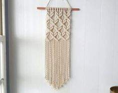 Macrame Wall Hanging Large Forest by HollyMuellerHome on Etsy