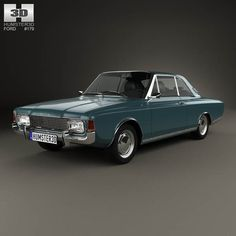 Ford Taunus (P7) 20M Coupe 1968 3d model from humster3d.com. Price: $75