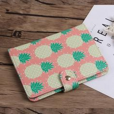 Watermelon Ice-cream On A Stick Blocking Print Passport Holder Cover Case Travel Luggage Passport Wallet Card Holder Made With Leather For Men Women Kids Family