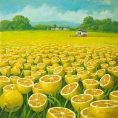 World Full Of Lemons By Surrealist Painter Vitaly Urzhumov | Bored Panda