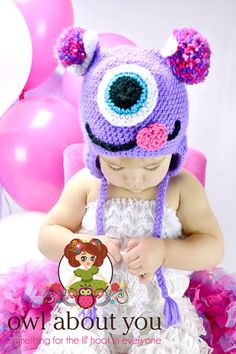 Mabel Monster Crochet Earflap Hat