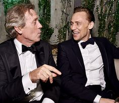 Hugh Laurie and Tom Hiddleston attend AMC Networks Emmy Party at BOA Steakhouse