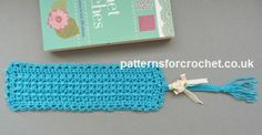 Free crochet pattern for bookmark http://www.patternsforcrochet.co.uk/tasseled-bookmark-usa.html #patternsforcrochet