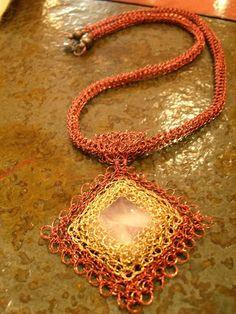 Tkané šperky - ANITA NAVARRO: šperky tkaná s niťou striebra, medi a fantázie ............... ANITA NAVARRO