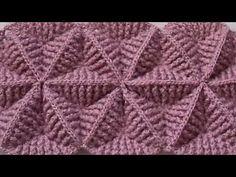 Crochet Bookmark Pattern, Tunisian Crochet Patterns, Crochet Basket Pattern, Crochet Square Patterns, Crochet Bookmarks, Crochet Motif, Baby Knitting Patterns, Spiral Crochet, Crochet Triangle