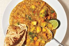 Yes, you can make Indian cuisine at home. Here, red lentils, carrots, and potatoes simmer with warm spices and vegetable broth until tender.