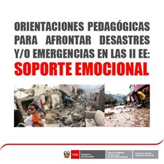 Teresa Clotilde Ojeda Sánchez: Orientaciones pedagógicas para afrontar desastres ...