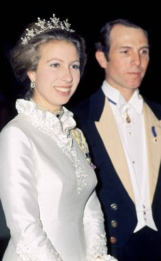 Princess Anne & Mark Phillips from Royal Scandals: The British and Beyond Royal Crowns, Royal Tiaras, Royal Jewels, Princess Anne Wedding, Adele, Queen Victoria Family, Queen Birthday, Elisabeth Ii, Princess Margaret