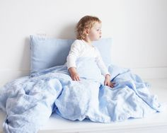 Linen...povlečení nebesky modré / Zboží prodejce mimilulu   Fler.cz Bed, Home, Stream Bed, Ad Home, Homes, Beds, Haus, Bedding, Houses