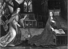 Boodschap van de aartsengel Gabriël aan Maria | Diest[deelgemeente], Stedelijk Museum Diest | onbekend (kunstschilder), Date: 1501 - 1600