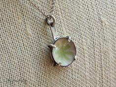 Silver Necklace Enamel Necklace Metalsmith Jewelry by LjBjewelry