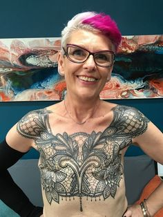 Woman Gets Badass Chest Tattoo After a Life-Saving Mastectomy  Wow!!! Beautiful!!