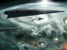 Executor Star Destroyer Bringing Death From Above