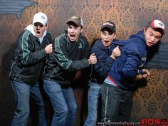 pretty sure you can tell what the guy on the far right is saying ;)    www.NightmaresFearFactory.com Niagara Falls scariest and best haunted house attraction.