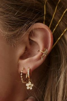 18K GF 18CT GOLD FILLED PEARL STUD EAR JACKET EARRINGS FASHION JEWELRY