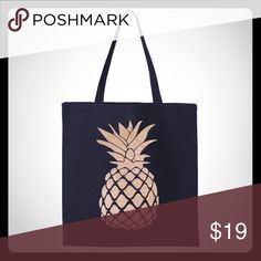 Pineapple Cotton Canvas Tote Pineapple Cotton Tote. 100 % Cotton Canvas Salt Lake Clothing Bags Totes