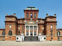 Castello di Racconigi.  Well Preserved Renaissance Royal Palace in Cuneo, Piedmont, Italy