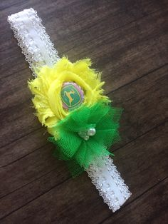 John Deere headband for the lil country princess in your life !