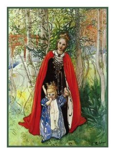 Spring Princess by Swedish Artist Carl Larsson Counted Cross Stitch or Counted Needlepoint Pattern
