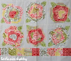 French Roses by Heather French, four layers of favric sewn on top of each other