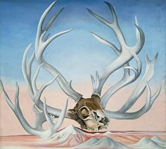 Georgia O'Keeffe (American, Sun Prairie, Wisconsin Santa Fe, New Mexico). From the Faraway, Nearby From one lover of bones to another. Georgia O'keeffe, Wisconsin, New Mexico, Georgia O Keeffe Paintings, Women Artist, Female Artist, Skull Painting, Expositions, Community Art
