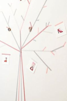 Family tree washi tape wall art.