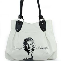 Amazon.com: New Arrival Vintage Marilyn Monroe Print Corrugated Fashion Simple Solid Tote Satchel Handbag Purse in White: Clothing $42.99