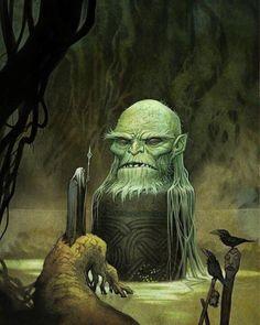 Odin at Mimir's Well, by Johan Egerkrans