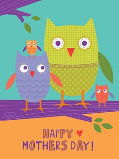 My Owl Barn: 6 Free Mother's Day Cards