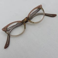 f496f2e0949 Vintage American Optical Small PInk Cat Eye Glasses or Sunglasses - 1960s  Eyeglasses