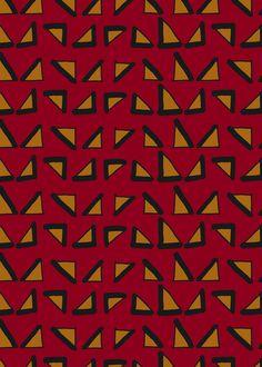 Geometric Pattern - Red & Yellow by Georgiana Paraschiv