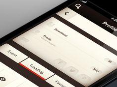 Dribbble - App WIP Profile by Rovane Durso