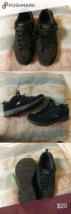 Sketchers Elite Black Size 9 Sketchers Elite all black sneakers Used Skechers Shoes Sneakers