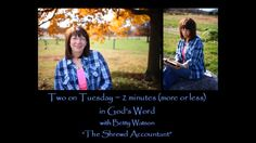 "Most of Jesus' teachings and parables are easy to understand, but then there is the one that isn't so easy.  Betty teaches about the shrewd accountant on ""Two on Tuesday."""