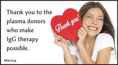Plasma donors rock!