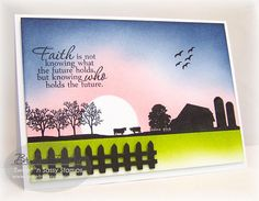 CC443 Farm Sunrise by bfinlay - Cards and Paper Crafts at Splitcoaststampers