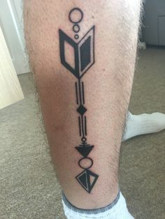 Geometric Arrow tattoo black white symmetry More