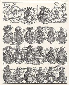 Artist: Schoen, Erhard, Title: Stammbaum des Hauses Wittelsbach (zweites Teilblatt), Date: ca. 1530