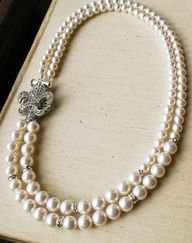 Pearl necklace #bride #jewelry