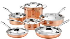 Buy this Cuisinart 10pc Tri-Ply Cooper Cookware Set with deep discounted price online today.