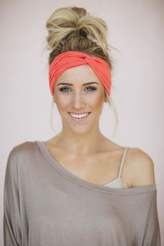Turban Headband Women's Solid Jersey Turban Hair, by ThreeBirdNest