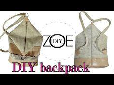 DIY backpack | back to school | zoe diy - YouTube